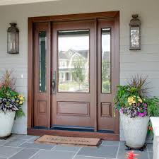 Fiberglass Exterior Doors For Sale Home Depot Entry Doors Front Door With Sidelights And Transom