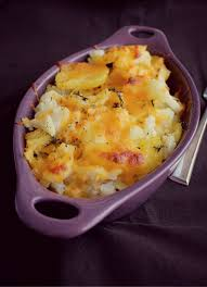 cauliflower potato and cheddar bake cooks