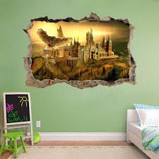 hogwarts harry potter smashed wall decal removable wall sticker hogwarts harry potter smashed wall decal removable wall sticker art mural h326 ebay