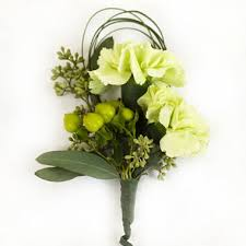 white boutonniere wedding corsage boutonniere package green white 24 pc