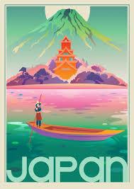 travel posters images Pop art japan mount fuji travel poster vintage retro decorative jpg