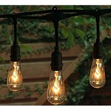 edison light string outdoor g40 globe pergola string lights with 50 clear bulbs ul
