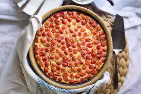 sour cherry cornmeal clafoutis strawberryplum