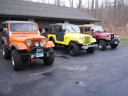 orange jeep certifiablejeep com completed three project jeeps