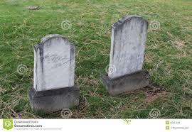 marble headstones zig zag marble headstone in cemetery stock photo image