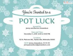printable potluck invitations