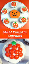 easy m u0026m pumpkin cupcakes two sisters crafting