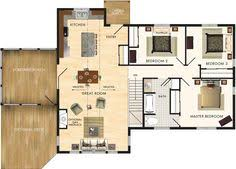 Small Floor Plans I Like The Open Floor Plan But It Would Need Another Bedroom And A