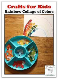 crafts for kids rainbow collage of colors