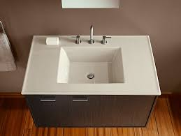 One Piece Bathroom Vanity Tops by K 2781 8 Ceramic Impressions 37 Inch Rectangular Vanity Top