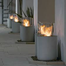 Ethanol Fire Pit by Removable Real Flame Indoor Outdoor Garden Dinning Gel Bio Ethanol