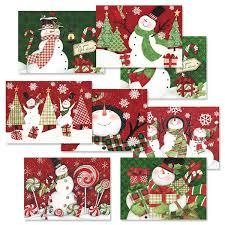 christmas cards snowman christmas cards value pack christmas card value packs