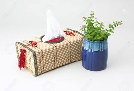 tissue paper box a beautiful handmade bamboo tissue paper box stock photo picture