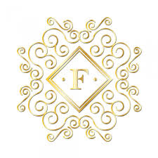 gold monogram letter f gold monogram free stock photo domain pictures