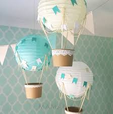 hot air balloon decorations whimsical hot air balloon decoration diy kit mint nursery