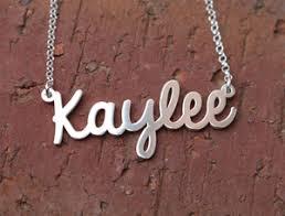 Custom Made Name Necklace Name Necklace Custom Made For You