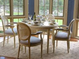 Cane Back Dining Room Chairs French Country White Distressed Dining Furniture U0027 French