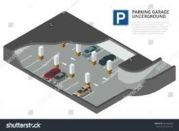 underground parking cars indoor car park stock vector 367645568 underground parking with cars indoor car park under house or office flat 3d isometric