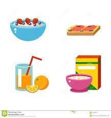 food vector healthy breakfast food vector stock vector image 75750562