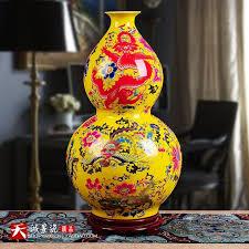 65cm jingdezhen ceramics glaze yellow landing