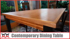 How To Build A Dining Room Table Plans by How To Make A Contemporary Dining Table Diy Furniture Youtube