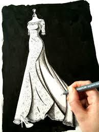 design dress design process wedding design ink