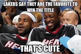 Miami Heat Meme - miami heat making fun of lakers meme don t hate miami