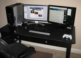 Desk For Dual Monitor Setup Computer Desk For 2 Monitors Uk Good Dual Esnjlaw Com
