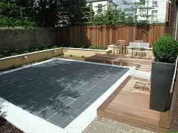Split Level Patio Designs by Low Maintenance Planting To Soften Driveway Small Garden Yard