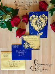 beauty and the beast inspired rose gatefold laser cut invitation