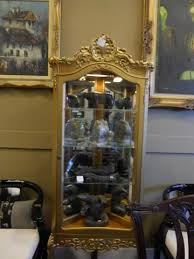 Ornate Display Cabinets Gilt Painted Ornate Curio Cabinest Magnum Opus Antiques