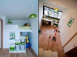 chambre mezzanine enfant lit superpos escalier avec rangement escalier avec tiroirs de