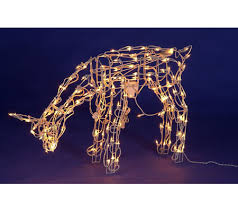 lighted reindeer with up motion qvc