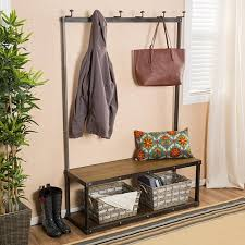 buy elaine brown entry bench with coat rack by gdfstudio on dot u0026 bo