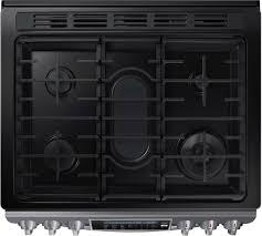 Gas Stainless Steel Cooktop Samsung Nx58k9500wg 30 Inch Black Stainless Steel Series Slide In