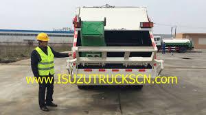 how to operation 8tons isuzu npr rubbish compactor trucks youtube