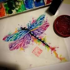 watercolor dragonfly tattoo google search tattoos pinterest