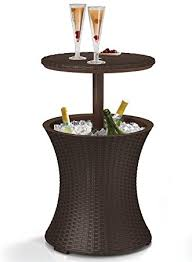 Cooler Patio Table Keter 7 5 Gal Cool Bar Rattan Style Outdoor Patio