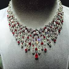 diamond necklace red images 370 best ruby necklaces images diamond necklaces jpg