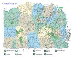 Pennsylvania Map With Counties by Heritage Info Within Greene County Pennsylvania