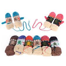 aliexpress com buy winter warm womens girls knit mittens wrist