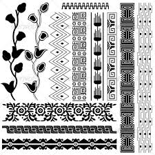 ancient american pattern backgrounds decorative colouring in