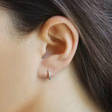 tiny hoop earrings inspirational tiny diamond hoop earrings allezgisele diamonds
