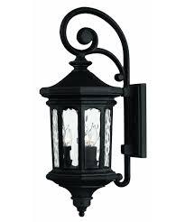 hinkley lighting 1604 raley 10 inch wide 3 light outdoor wall