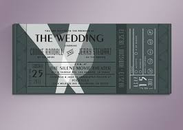 glamorous movie ticket wedding invitation template 55 for custom