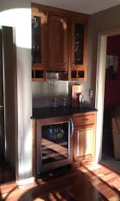 add to rec room small dry bar with wine cooler rack for stemware