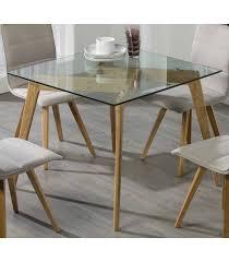 table cuisine verre source d inspiration de janis 90 table carrée cuisine nordica