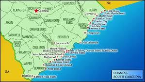 south carolina beaches map coastal south carolina map map