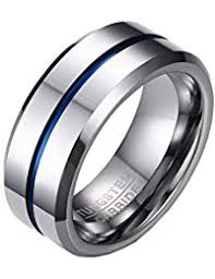 men tungsten rings images Amazon co uk tungsten rings men jewellery jpg