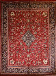 Cotton Wool Rugs Large Persian Hand Knotted Ahar Rug In Wool Cotton Foundation